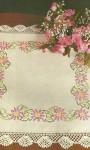 Toalha com Flor Rosa